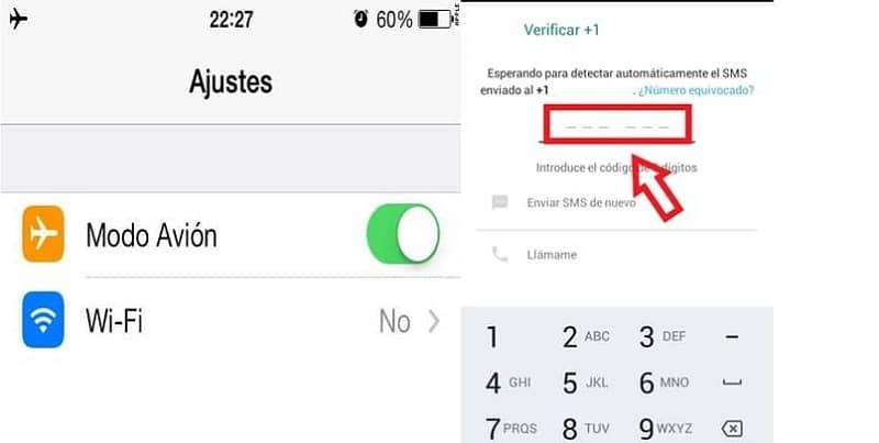 ajustar el movil para la verificacion whatsapp