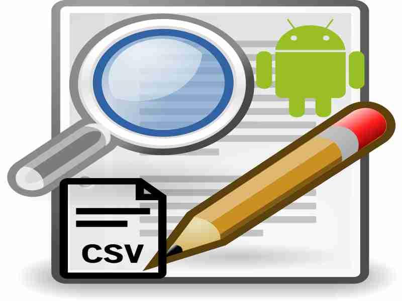 hoja de calculo csv con android