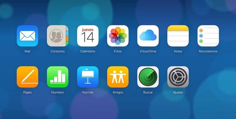 app de icloud en movil