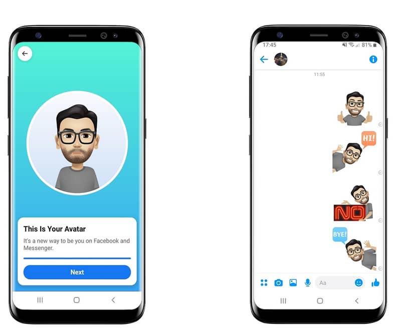 put avatar in facebook conversation