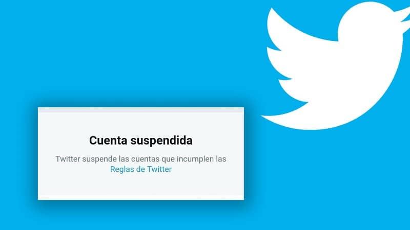 notificacion de suspension de cuenta de twitter