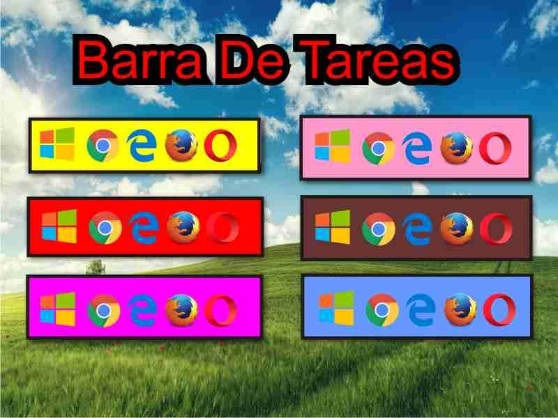 disenos de barras de tareas windows 10