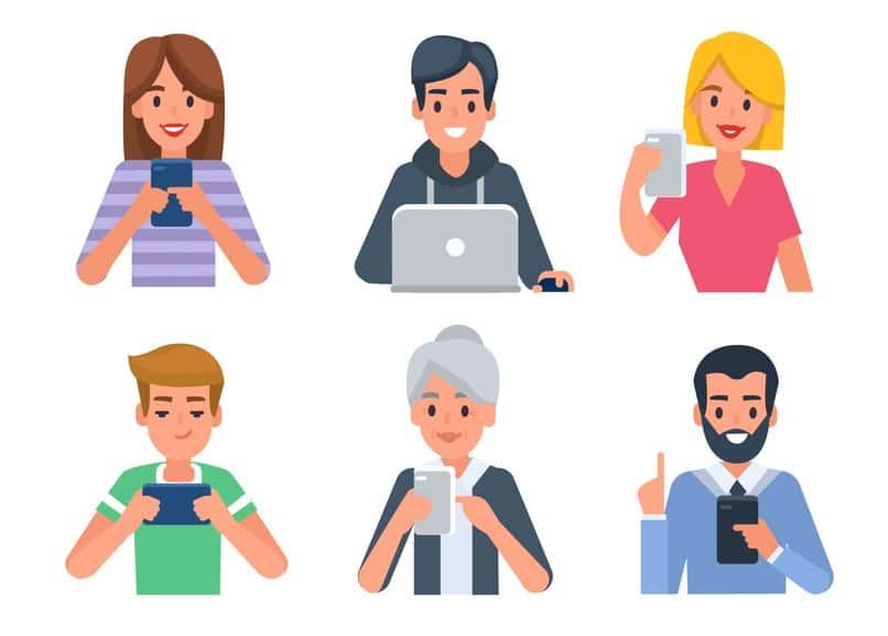 different user profiles