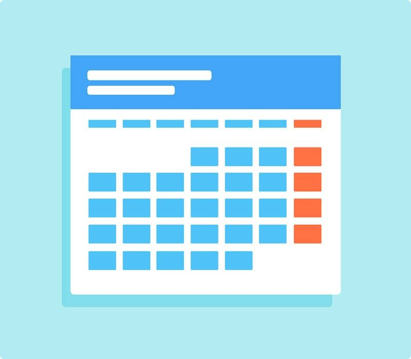 calendar that can be achieved in excel