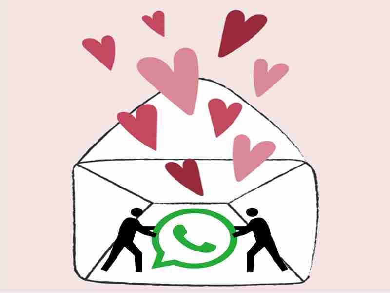 carta de amor enviada por whatsapp