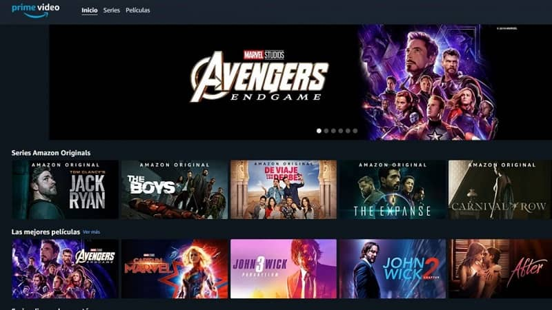 catalogo de series y peliculas en amazon prime video