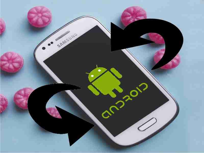dispositivo android con pantalla giratoria