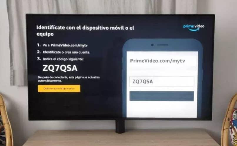 amazon video code prime on tv