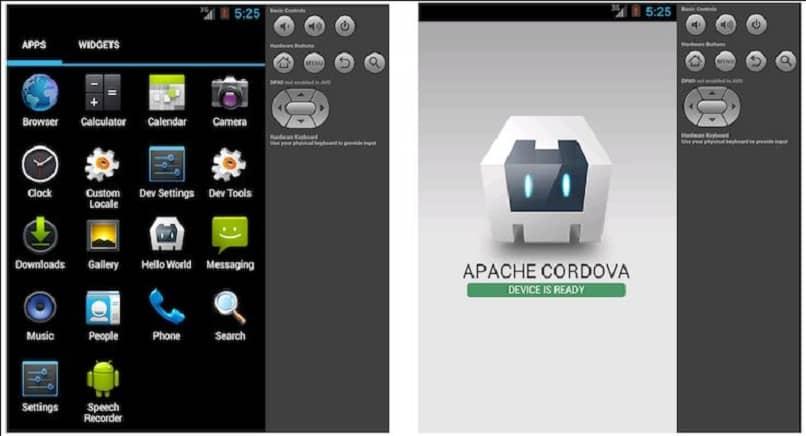 components and commands apache cordova