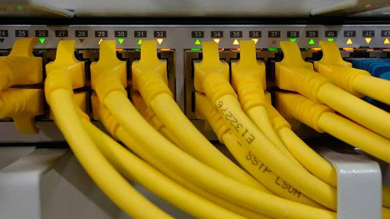 uso de redes cableadas