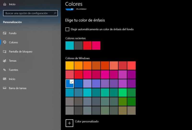 colores ordenador windows