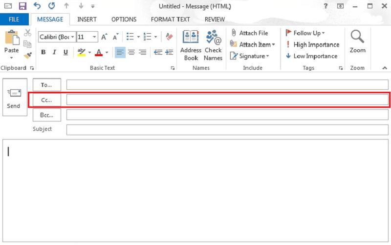 enviar correo con cc y cco