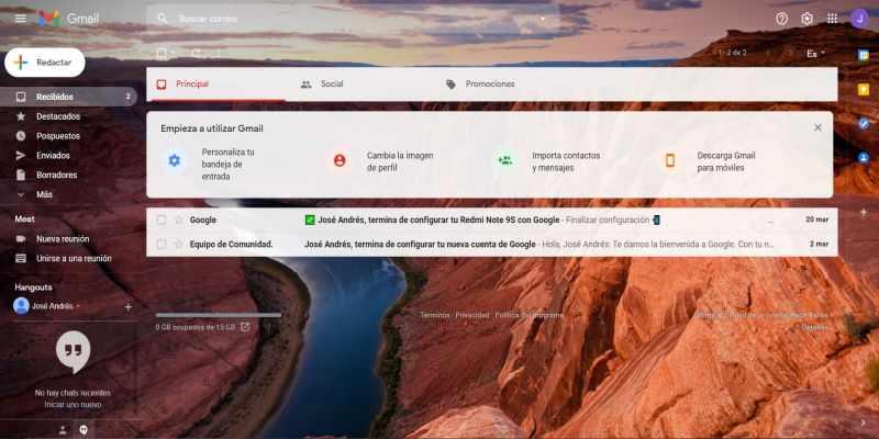 bandeja de entrada gmail personalizar