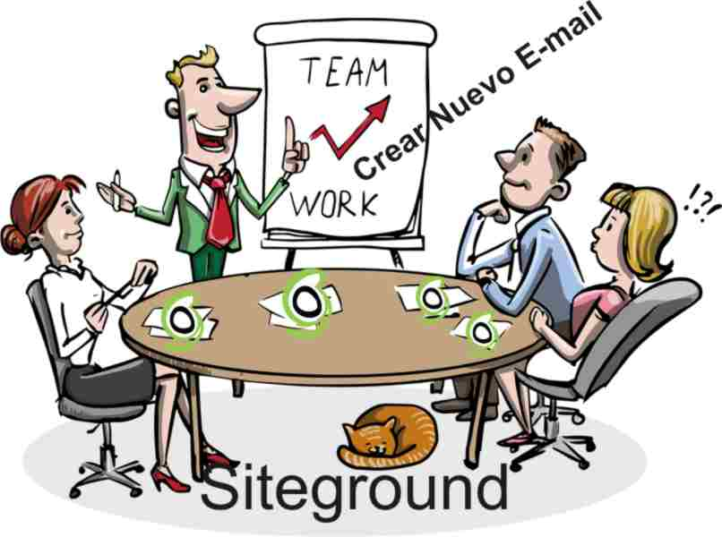 team work with email site