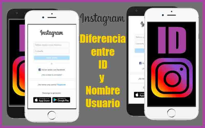 diferencia entre el id y nombre de usuario en instagram