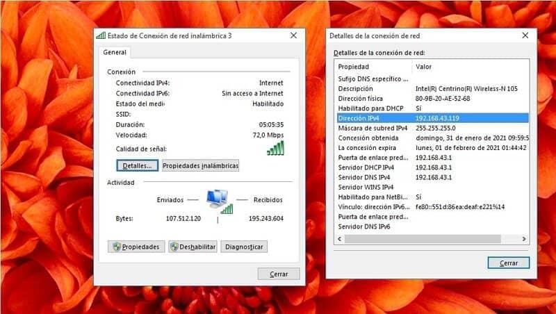 encontrar direccion ip version 4