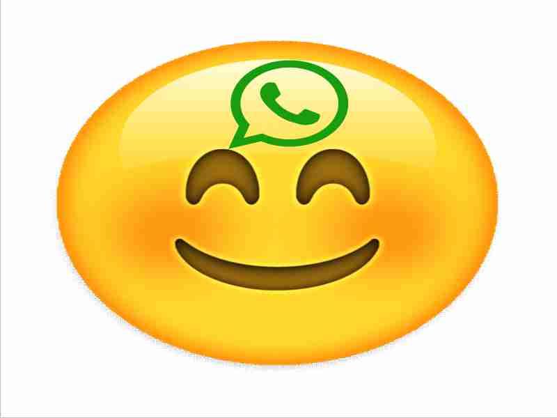emoticon o emoji de whatsapp sonriendo