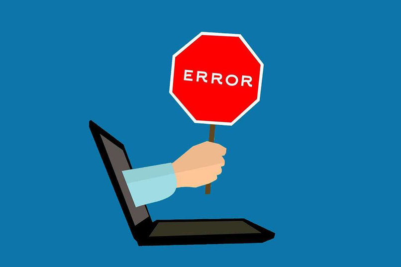 the image of a computer throwing error