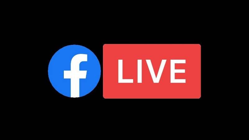 logotipo de facebook live