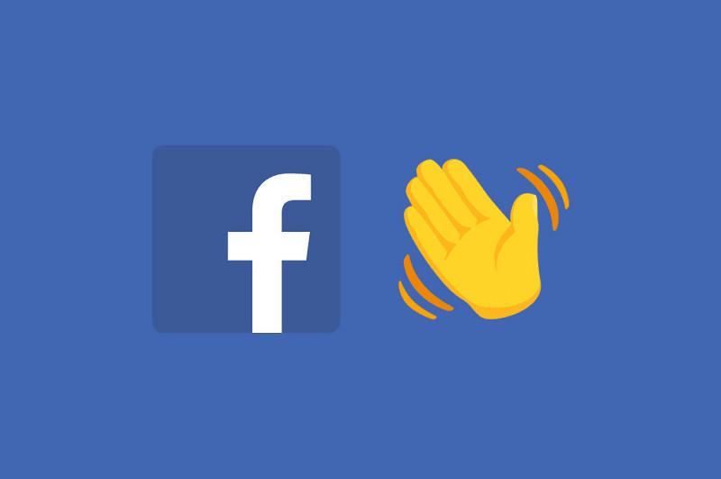 logo de facebook y emoji