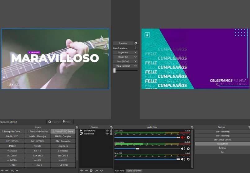 edit OBs Studio sources and scenes