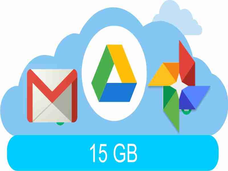 servicios google comparten 15 gb