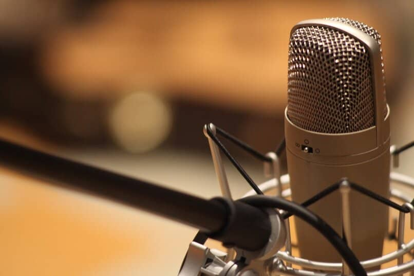 audio recording microphone for slides