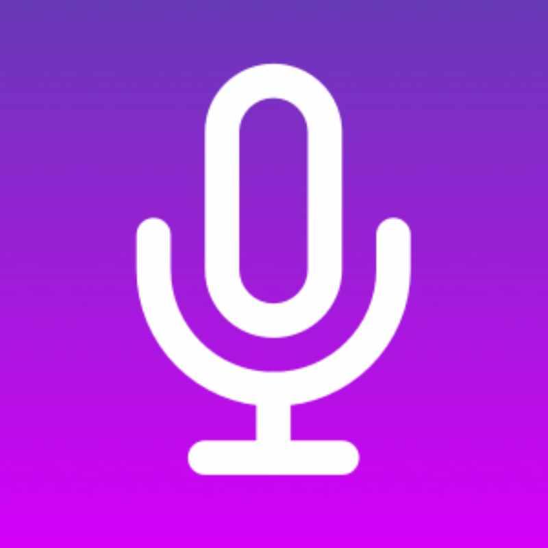 voz sonido logo microfono