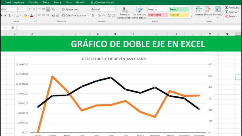excel graph double axis