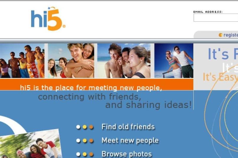 find people discover hi5