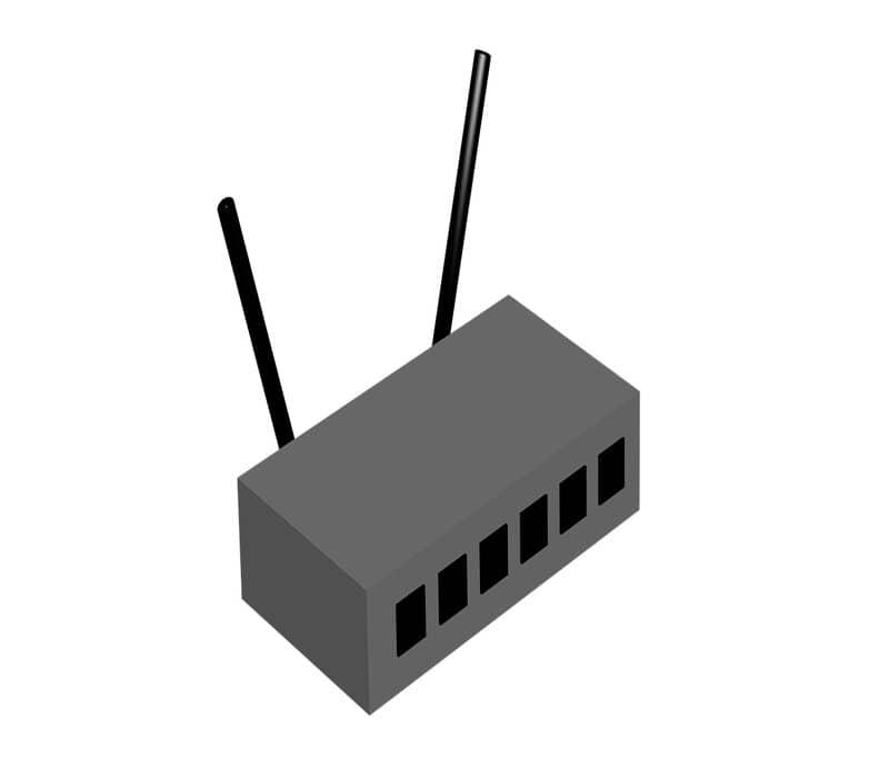 router utilizado para conectar el hotspot