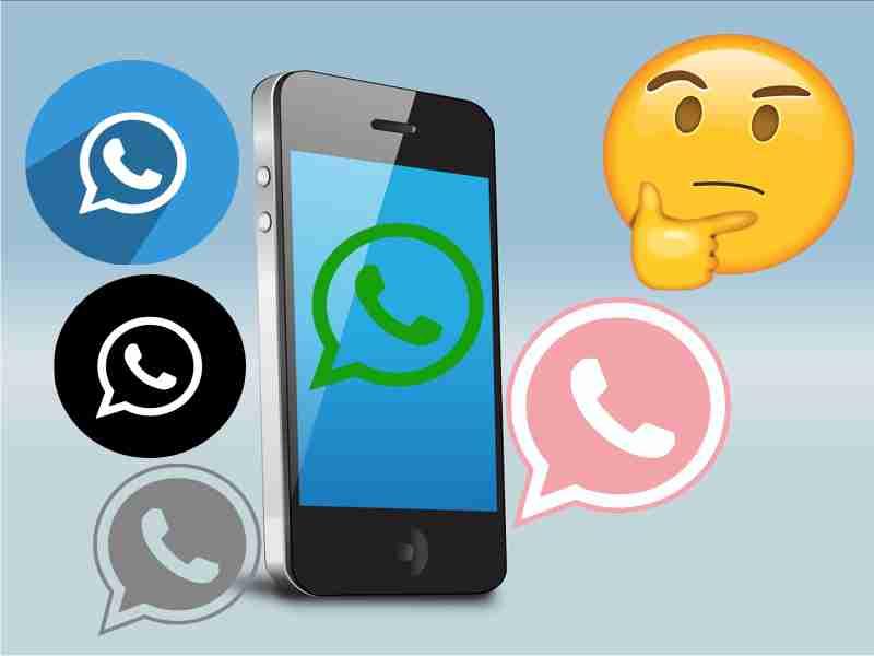 varios iconos de colores whatsapp en celular