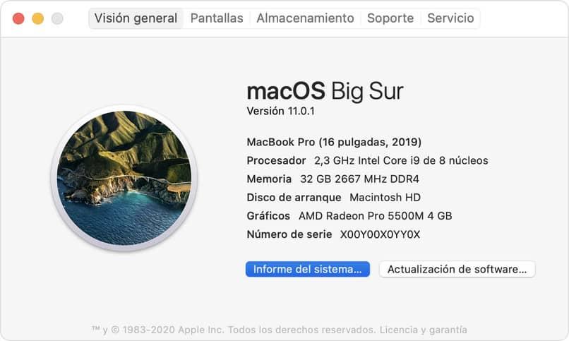 Mac information