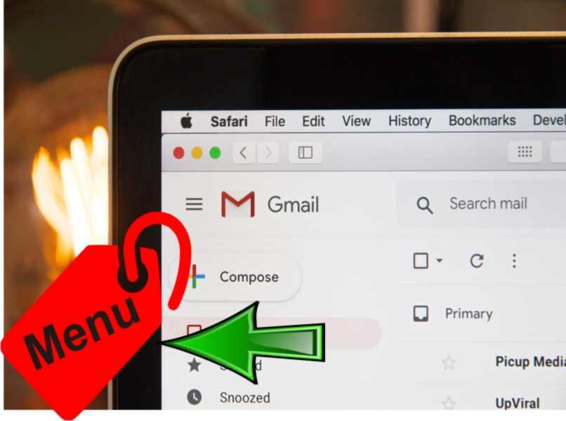 left menu gmail
