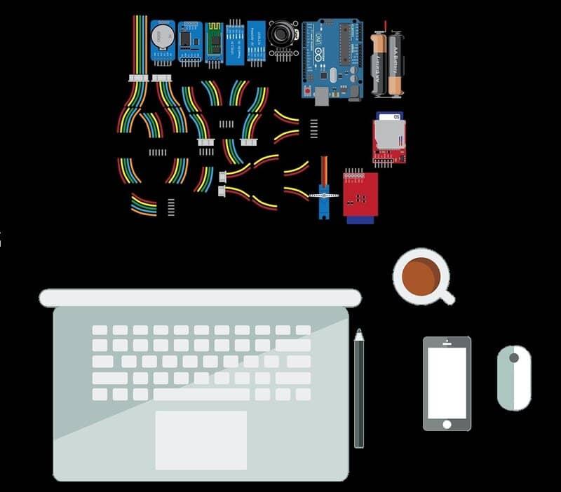 laptop y placas arduino