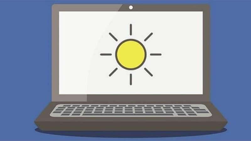 brillo del computador portatil