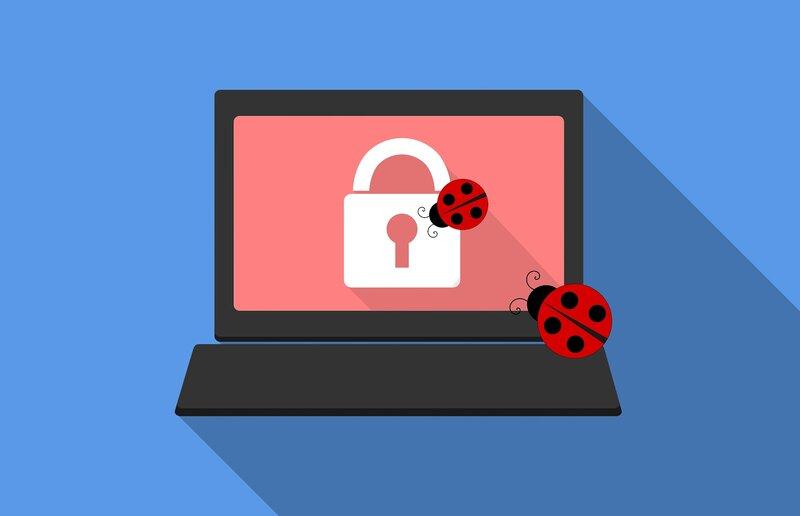 logo de laptop y ciberseguridad ante posibles ataques
