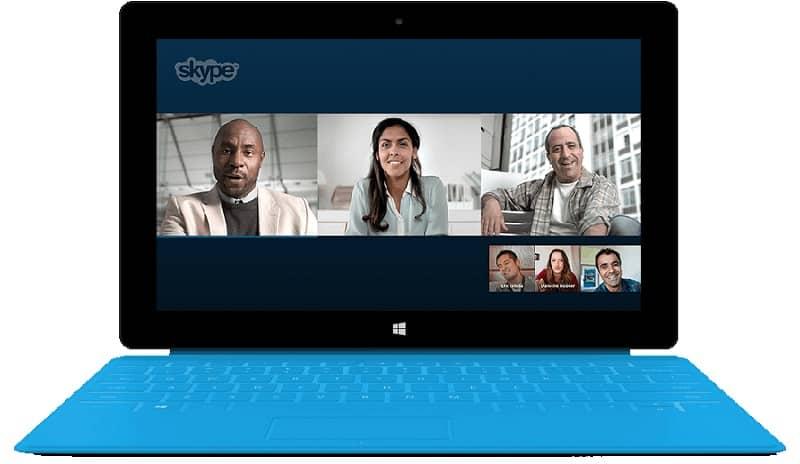 videollamada con personas por skype