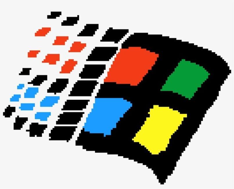 windows logo on white background