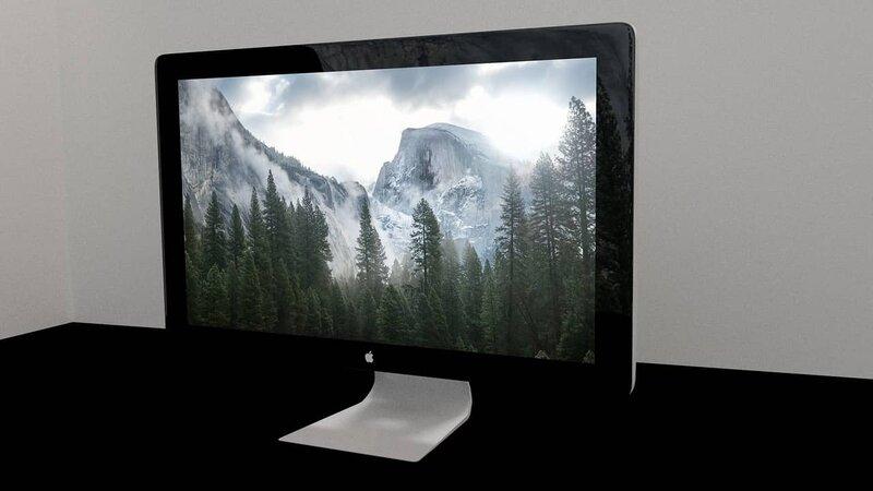 computadora mac con diseno de photoshop