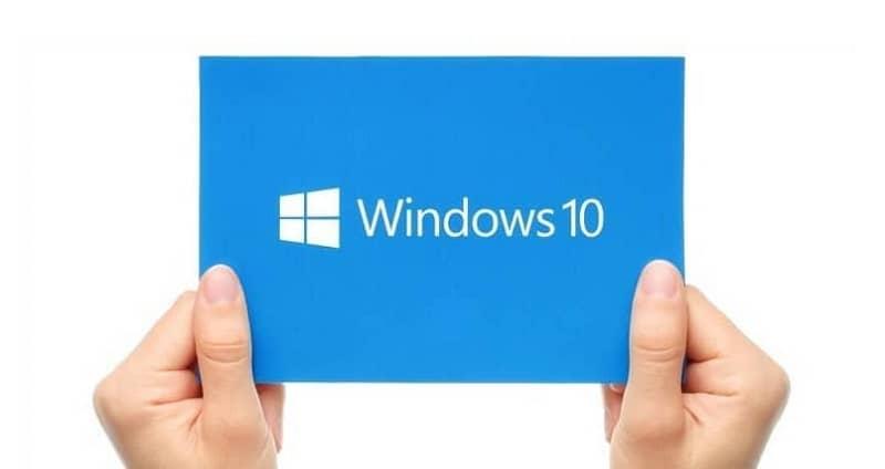 logo de windows en un cartel