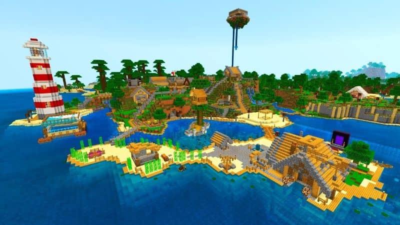 mapa minecraft isla