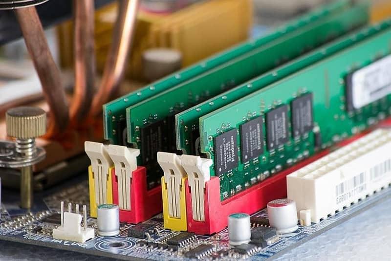 conectores memoria ram placa base