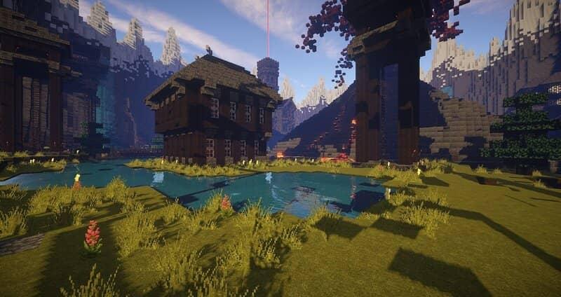 paisaje de minecraft creado con rapidez y facilidad en modo multijugador