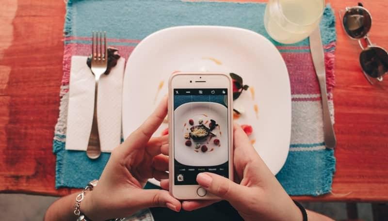 foto movil comida