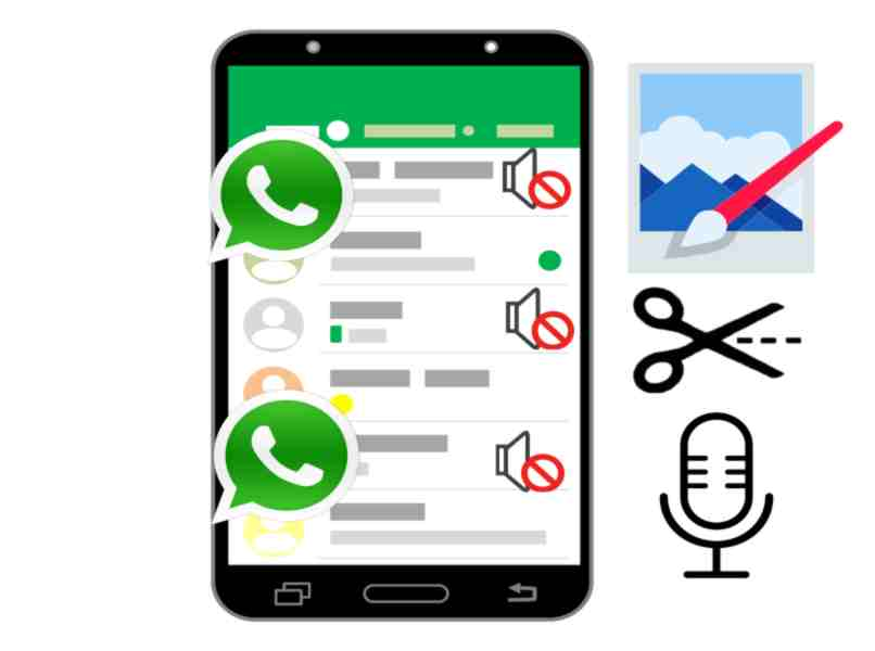 change the video sound in WhatsApp