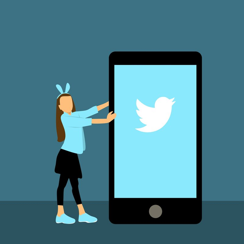 logo de nina con aplicacion de twitter para android