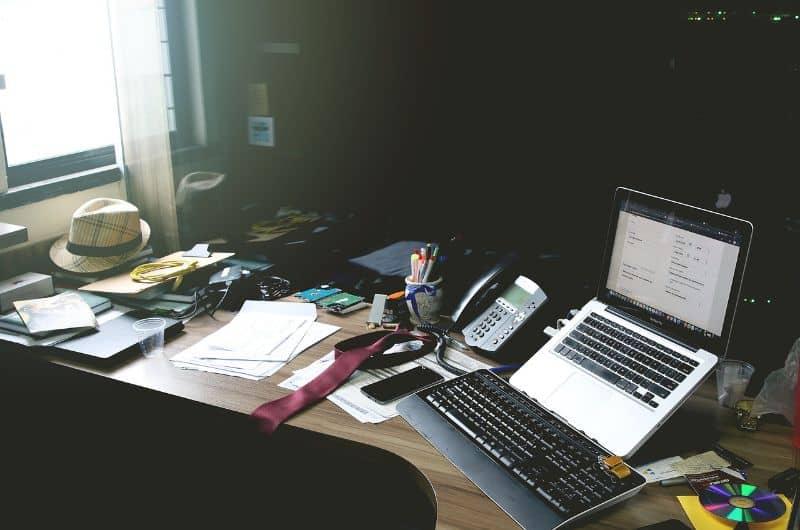 oficina pc trabajo word