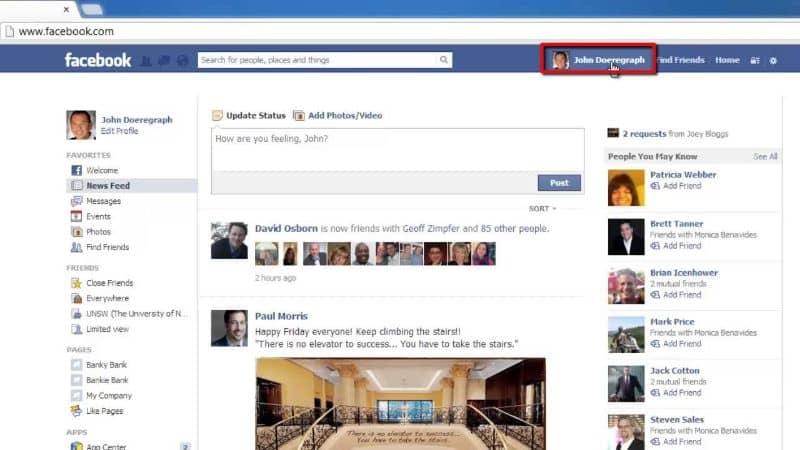 direccion url facebook