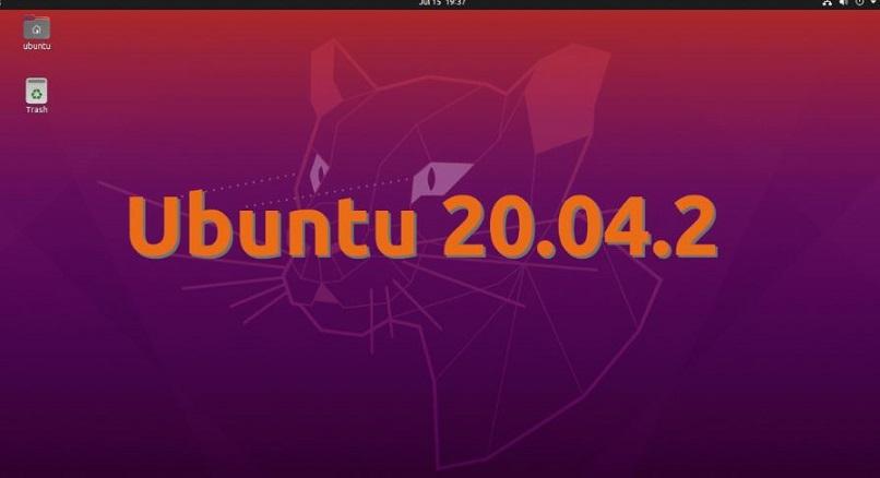 ubuntu home screen 20.04